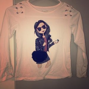 Girls fashion long sleeve tee